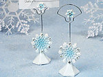 Winter Wonderland Collection Snowflake Place Card Holder