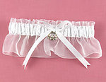 Irish Affection White Charm Bridal Garter