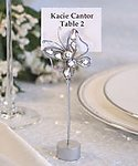 Chrome Butterfly Place Card Holder