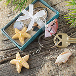 Starfish Design Keychain Favor