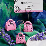 Pretty in Pink Collection Handbag Design Place Card Holder