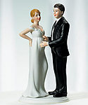 Expecting Bridal Couple Caketop Figurine
