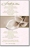 I Will Be Here.. Calla Lily Blank Wedding Programs - Pkg 100