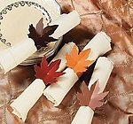 Fall Maple Leaf Napkin Rings - Pkg 48