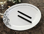 Oval Guest Signing Plate with Two Pens