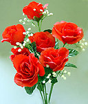 Dew Drop Open Rose Bouquet - RED