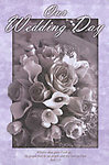 Black & White & Lavender Blank Wedding Programs - Pkg 100