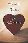 Faith Hope Love Red Heart Wedding Programs - Pkg 100
