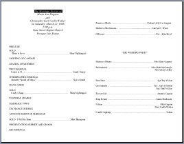 free funeral mass program template