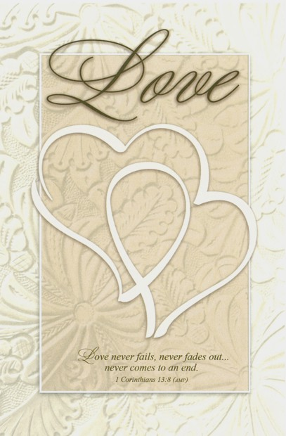 Love Double Heart Blank Wedding Programs Pkg 100