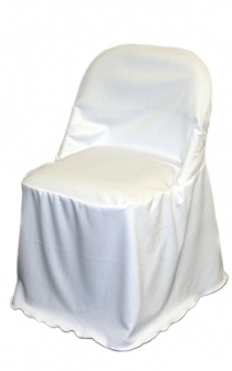 Folding Chair Cover Flat Top White or Ivory