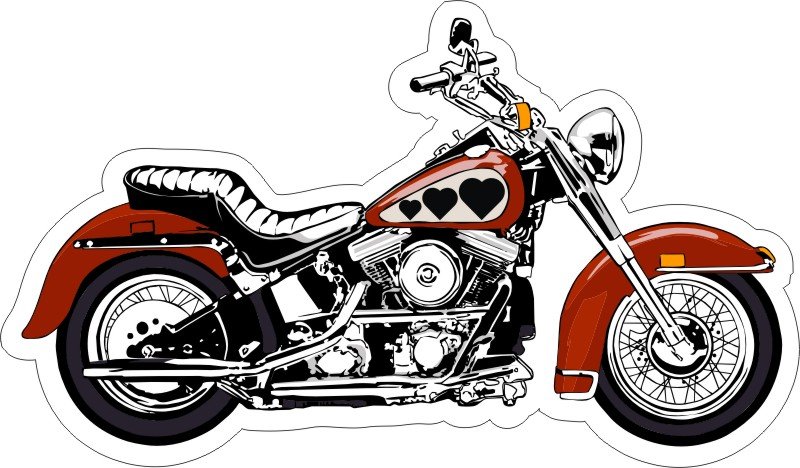 Motorcycle Favor Or Invitation Stickers - Motorcycle stickers