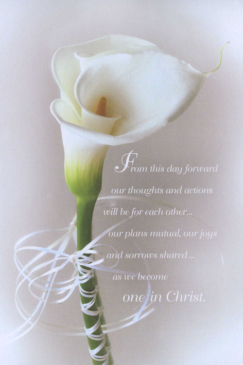 Calla Lily One in Christ Wedding Program Pkg 100