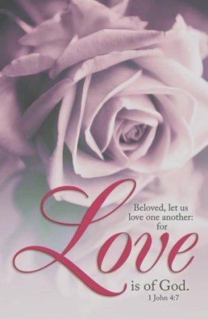 Love is of God Sepia & Red Blank Wedding Programs - Pkg 100