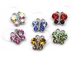 Austrian Crystal & Silver Toe Ring - 6 Colors!
