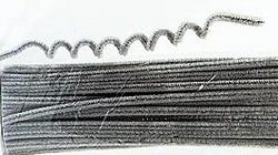 6mm Silver Chenille Stems - Pkg 25