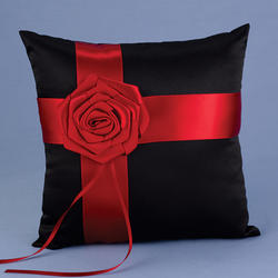 Midnight Rose Ring Bearer Pillow