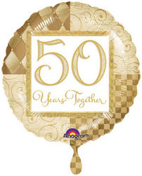 25 or 50 Years Together Mylar Balloon