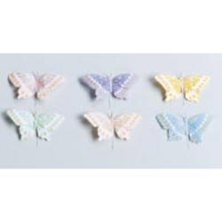 4 1/2 Painted Feather Butterflies - Pkg 12