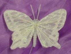 4 1/2 Irridescent Feather Butterfly - Pkg 12