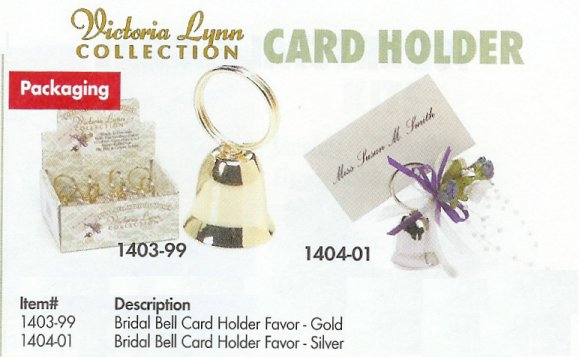 Bridal Bell Placecard Holder - 2 Colors!