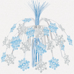 24 Hanging Snowflake Foil Cascade
