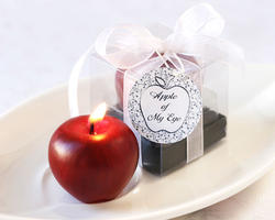 Apple of My Eye Mini-Candle in Gift Box with Ribbon and Tag