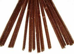 6mm Chocolate Chenille Stems - Pkg 25