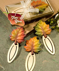 Autumn Themed Bookmark Favors