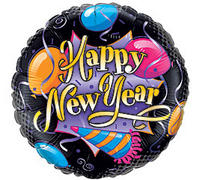 18 Happy New Year Assorted Mylar Balloon