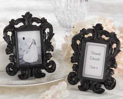 Black Baroque Elegant Place Card Holder/Photo Frame