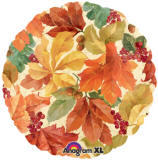 18 Leaves, Berries & Acorns Mylar Balloon