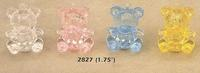 1.75 Teddy Bear Favors - Pkg 12 - 3 Colors!