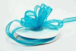 3/8 Turquoise Satin Edged Organza Ribbon