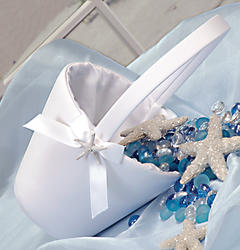 Beach Starfish Flower Girl Basket - 2 Colors!