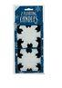 4.5 Snowflake Floating Candles - Pkg 2