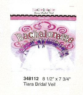 Bachelorette On The Loose Bridal Tiara Veil