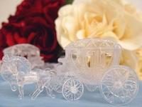 Clear Plastic Cinderella Horse & Carriage Set