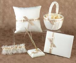 Love Links Ivory & Taupe Satin Collection