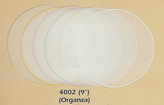 9 Organza Circles - 4 Edge Colors!