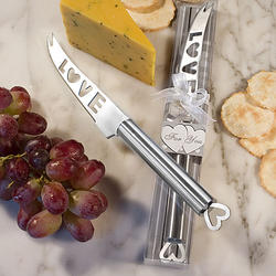 Amore Themed Stainless Steel Cheese Knife Favor