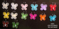 1 Nylon & Glitter Butterfly - Pkg 50 - 7 Colors!