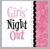 Bachelorette Girls Night Out Beverage Napkin - Pkg 16