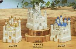 4.5 Square Resin Castle - Colors!