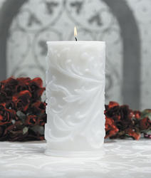 9 Oval Pillar Unity Candle - White or Ivory