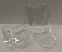 Butterfly Shape Clear Plastic Box - Pkg 12