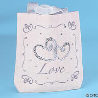 12 Tote Bags with Rhinestones