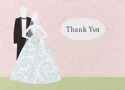 Bride and Groom Thank You Cards