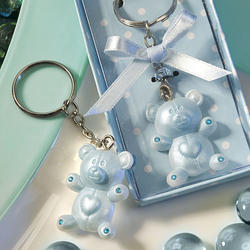 Blue Teddy Bear Design Key Chain