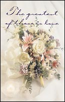 Greatest of these is Love Blank Wedding Program - Pkg 100